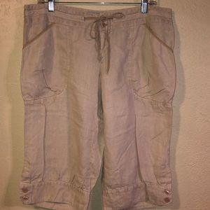 Pre-own Guess Linen crop pants size Large